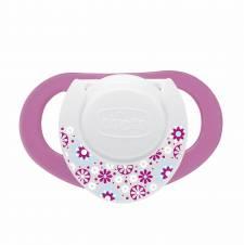 Chicco Physio Compact - Pack de 2 chupetes de látex/caucho para 6-16 meses, color rosa. Envíos a Álava