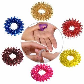 La acupresión masaje Sujok anillo en colores surtidos Conjunto de 6 piezas con el pulgar acupresión libre. Envíos a Cáceres