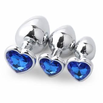 FAMILIZO 3PCs Plug Anales Mujer Cola Plug Anales Acero Plug Anales Mujer Metal Plug Anales Mujer Acero Plug Anales Hombres Acero Aleación de aluminio Juguete Sexual Hombre Y Mujer (Azul). Envíos a