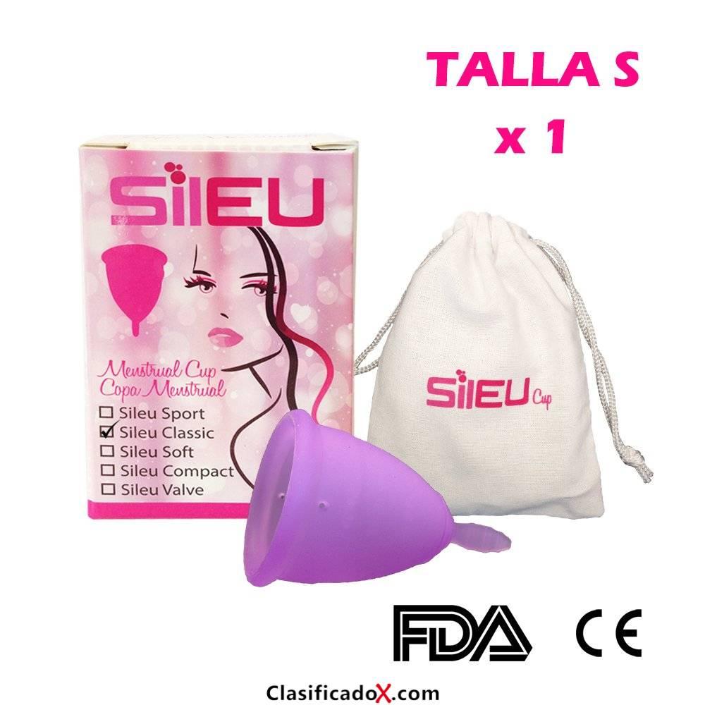 Copa menstrual Sileu Classic - Talla S - Mujeres que no han tenido hijos y/o están por debajo de los 25 años - 1 Unidad. Envíos a Granada