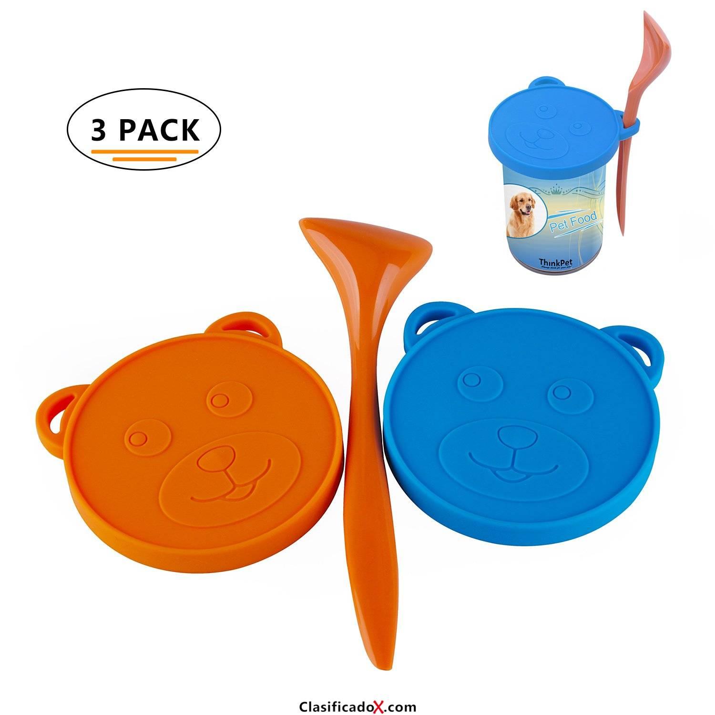 ThinkPet Patrón de oso Silicona de grado alimentario Almacenamiento de comida para mascotas Puede tapa cubierta y Scoop Kit. Envíos a Huelva