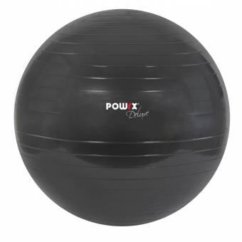 POWRX Deluxe - Pelota de gimnasia, yoga, pilates, color antracita, tamaño 65cm. Envíos a La Rioja