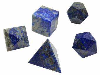 Harmonizer 5 piezas lapiz lazuli platónico sólido sagrado reiki sanación cristal equilibrio. Envíos a Huelva