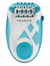 Rowenta Skin Spirit EP2910F0 - Depiladora de 2 velocidades con sistema anti dolor de 24 pinzas, Cepillo limpiador, Accesorio para Zonas Sensibles y Bolsita de Viaje. Envíos a Jaén