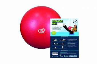 Pilates-Mad Exer-Soft - Balón de ejercicio (de 20 a 24 cm), color rojo. Envíos a Segovia