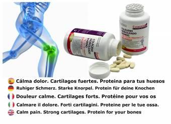 NATURAL BIO Colágeno hidrolizado Magnesio Calcio Vitamina C y D. Colágeno marino hidrolizado con magnesio. Suplementos vitamínicos para tus huesos, dolor en articulaciones.. Envíos a Jaén