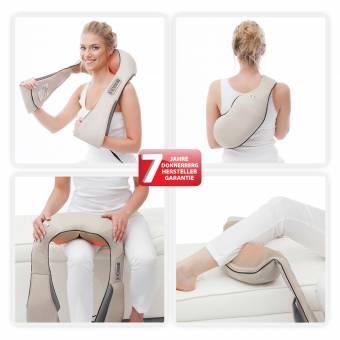 Donnerberg® Masajeador de espalda cuello y hombros | masaje relajante para todo el cuerpo | masajeador cervical con calor infrarrojo | alivia contracturas reduce estrés y fatigas musculares | Marca