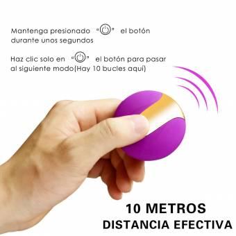 ZAMO EVA Huevo Vibrador Inalámbrico de 10 Modos Vibrantes,USB Recargable y IP67 Impermeable. Tamaño Perfecto y Facil de Limpiar y Llevar. Envíos a Las Palmas