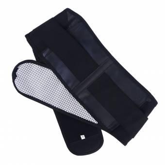 ROSENICE Trimmer de Cintura Cinturón de cintura ajustable Cinturón de masaje inferior lumbar Alivio del dolor Almohadillas con calefacción (Negro). Envíos a Huelva