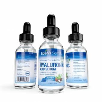 Ácido Hialurónico Serum - 30ml - Es el mejor anti-edad hidratante para el cutis. Ayuda a reducir las arrugas faciales. Contiene Vitamina C, Retinol y Vitamina E. Protección antioxidante que facili