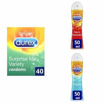 Durex Preservativos Surprise Me Variedad–Pack de 40. Envíos a Las Palmas