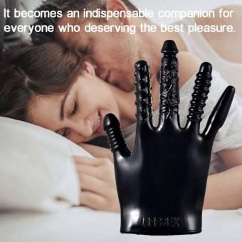 Juguetes sexuales para Adultos Vibrador Guante- Seguro Silicona no tóxico ABS- Coquetear Magia Manos Guantes Masaje Estimulador de Clítoris -Excelente sensación para Mujeres Hombres. Envíos a Gra