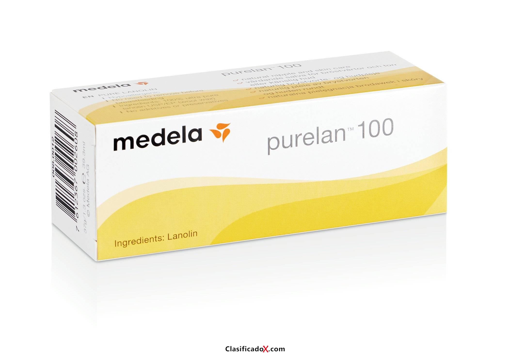 Purelan 100 Medela - Crema de lanonina 100% natural para pezones sensibles, secos o agrietados 37 gr. Envíos a Alacant