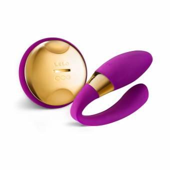 Lelo Tiani 24K Masajeador para Parejas con Mando a Distancia y Anillo En Oro de 24 Quilates, Color Deep Rose - 1 Unidad. Envíos a Barcelona