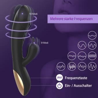 Vibrador Sexual de Silicona para Mujer, METALBAY Masajeador Punto G 10 Velocidades Calentamiento Inteligente con Dos Motores USB Cargable Juguetes Eróticos. Envíos a Huelva
