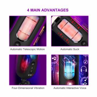 Vaso Masturbador con Vibración, iTrunk 7 Modos de Vibración con Altavoz Interactivo y Simulación de Succión. Vaso Masturbador con Vagina Realista, Masturbadores Automáticos Juguetes Eróticos Se