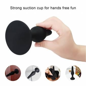 Plugs anales Kit Lube y enema, Paloqueth silicona 4 juguete del sexo anal. Piezas con ventosa. Base para usuarios con experiencia y principiantes. Envíos a Jaén