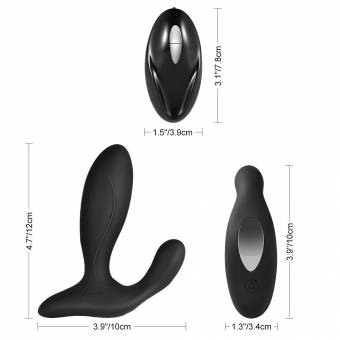 Utimi Masaje de Próstata Vibrador 7 Frecuencias Recargable de USB con Control Remoto para Hombre. Envíos a Almería