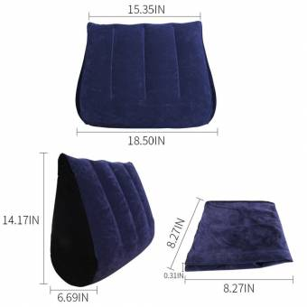 Dulexo Sexual Almohada Sex Pillow almohada con Triangle sofá plegable sin agujero inflable sexo Travel Pillow juguetes sexuales para parejas. Envíos a Ceuta