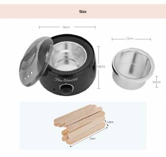 Calentador eléctrico de la máquina de depilacion cera calentador aplicador con frijoles papeles palos Waxing Kit (Negro). Envíos a Castellón