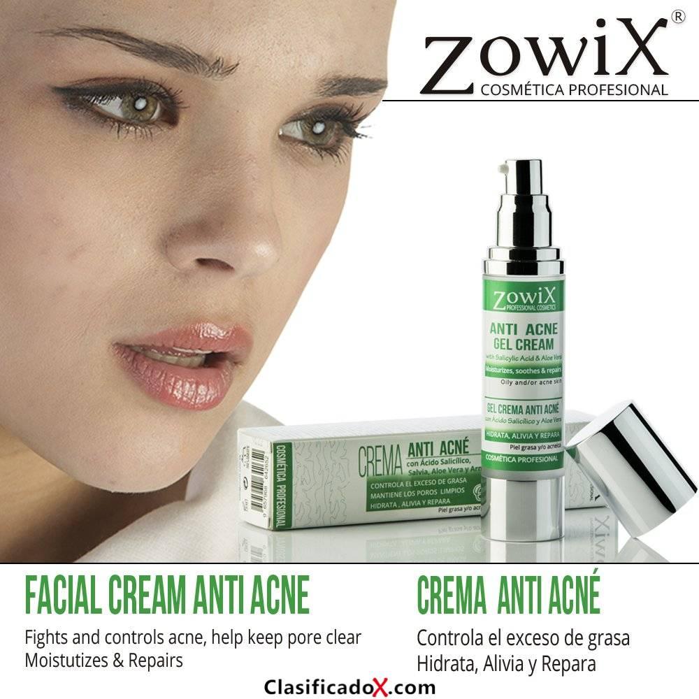 Anti Acne gel crema. Tratamiento contra el acne que contiene Acido Salicilico, Arnica, Levadura Cerveza, Aloe Vera. Reduce granos espinillas y puntos negros. Combate el acne juvenil y el acne adulto.