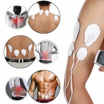 TENS EMS Masajeador y estimulador de pulsos, Electroestimulador Digital Masaje,Recargable con 16 Modos y 8 Almohadillas ideal para Tensión y Manejo del dolor con impulso e impulso adecuado para trat