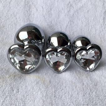 Rawdah Berg Crystal color plata acero inoxidable plug anal metal patio trasero enganche (S, Blanco). Envíos a Castellón