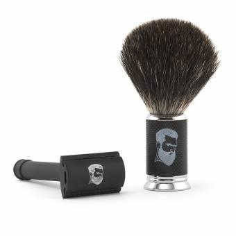 Rusty Bob - Afeitar las maquinillas de afeitar-Planer tradicional clásico-cromo brocha de afeitar el pelo de tejón de afeitar +5x hoja de a - Set 1. Envíos a Málaga