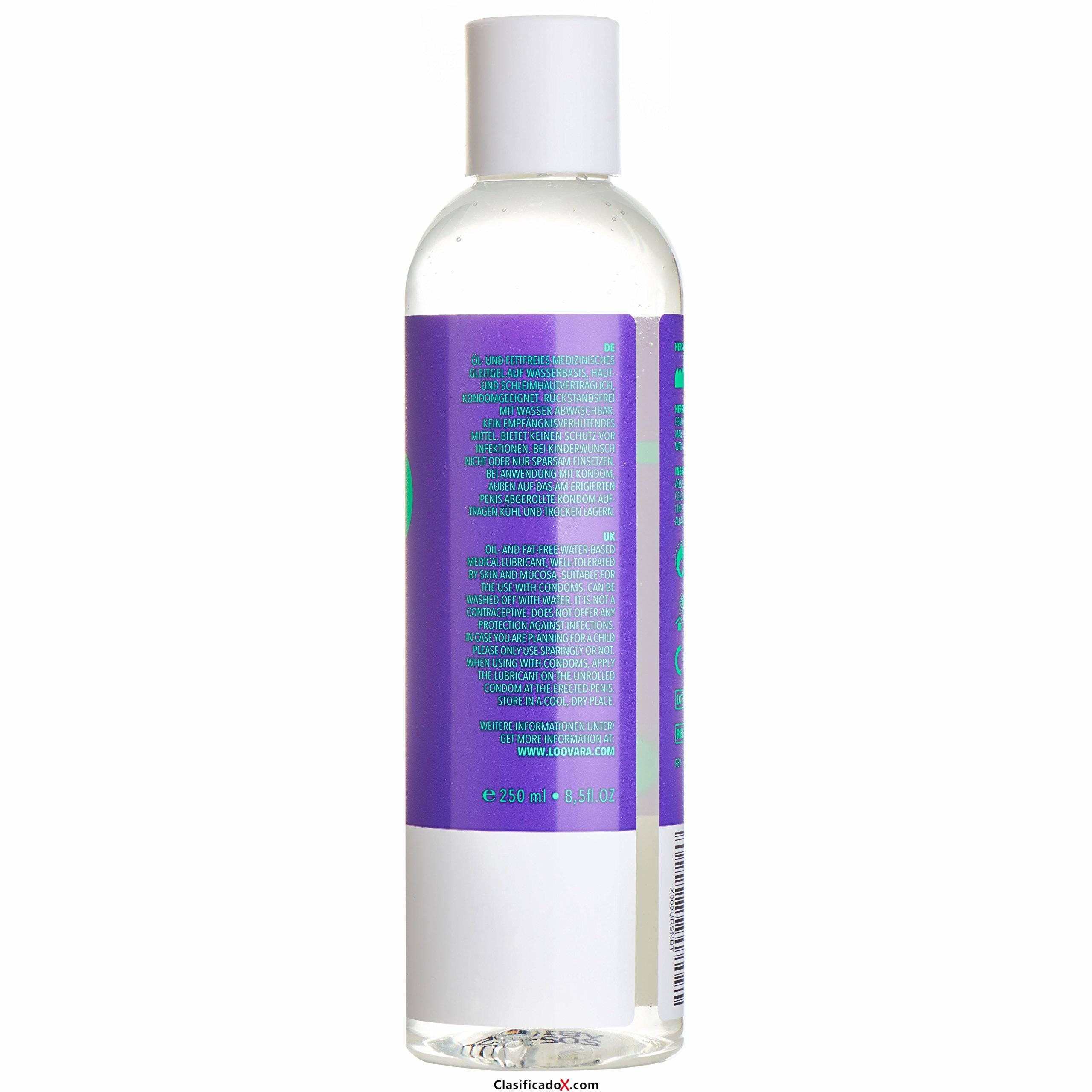 Loovara 2en1 masaje y Gel lubricante (250 ml) a base de agua, con aloe vera para pieles sensibles, adecuado para condones. Envíos a Cádiz