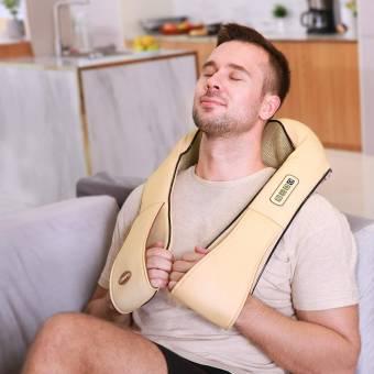 Naipo Masajeador de Cuello y Hombros Shiatsu Masajeador Cervical con Intensidad Regulable y Función de Calor. Envíos a Las Palmas