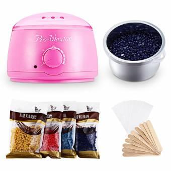 Calentador eléctrico de la máquina de depilacion cera calentador aplicador con frijoles papeles palos Waxing Kit (Rosa). Envíos a Almería