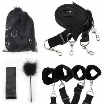 Bondage esclavitud, Paloqueth restricciones de cama con máscara para los ojos (negro). Envíos a Palencia