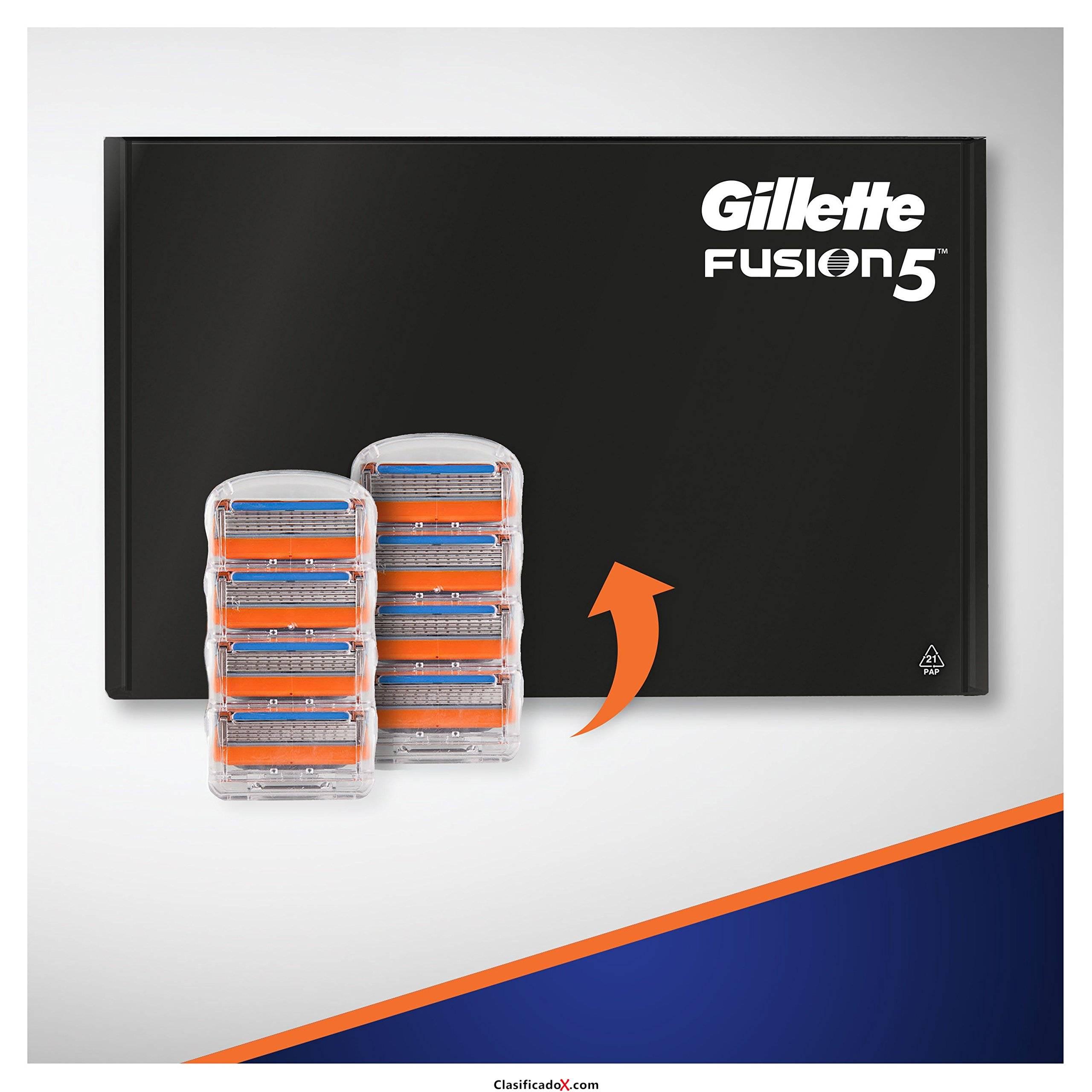 Gillette Fusion5 - Cuchillas de recambio para maquinilla de afeitar Gillette para hombre, paquete apto para el buzón de correos - 16 recambios. Envíos a Alacant