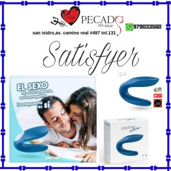Partner Whale  Satisfyer doble estimulador doble placer en sexshop pecados cel:979033560