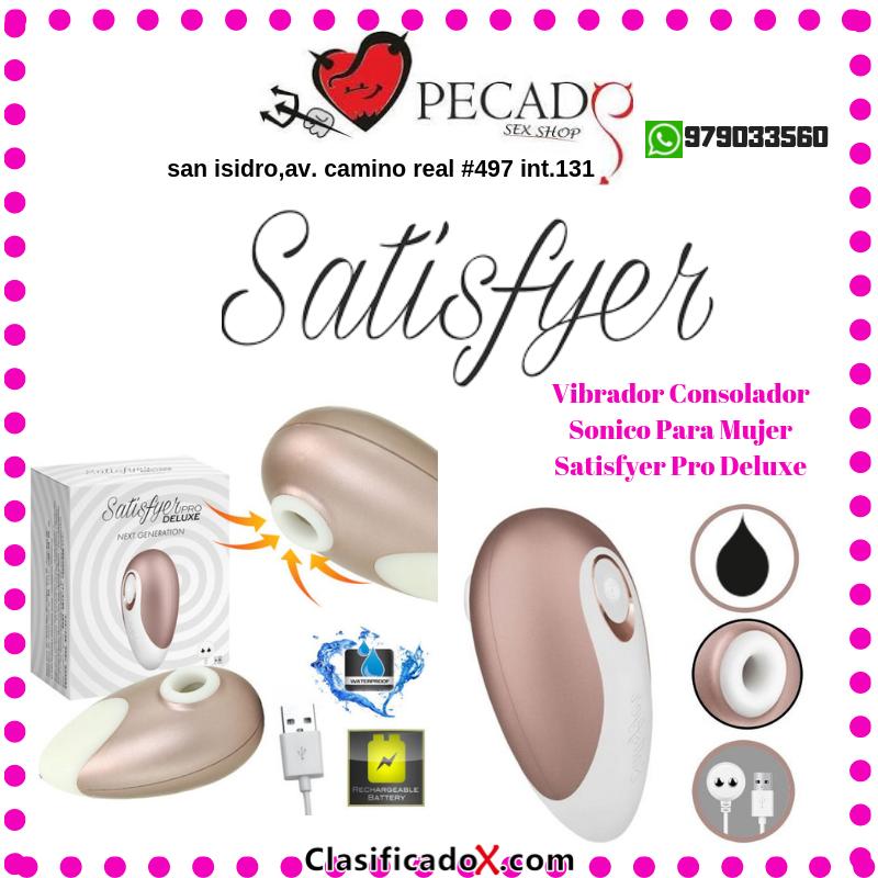Satisfyer vibradores con cargador usb succionadores clitoriales sexshop san isidro
