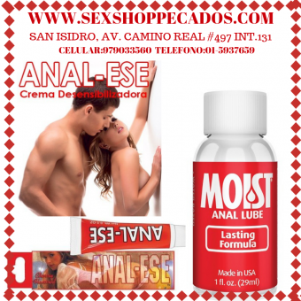 Dilatador analeze, es un lubricante especial para desensibilizar el área del ano / sexshop pecados cel:979033560 tel:01-5937659