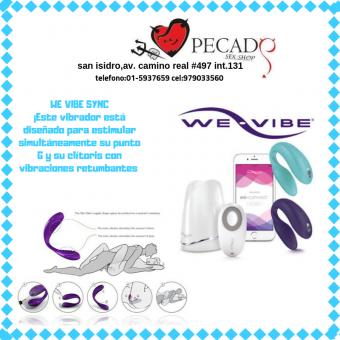 WE VIBE SYNC vibrador para parejas sexshop pecados cel:979033560
