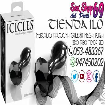 SEXSHOPDELPERU69 CONSOLADOR ANAL ICICLES NO. 78(VIDRIO)