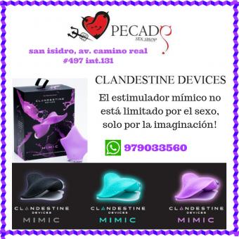 VIBRADOR MIMIC CLANDESTINOS sexshop pecados san isidro cel:979033560