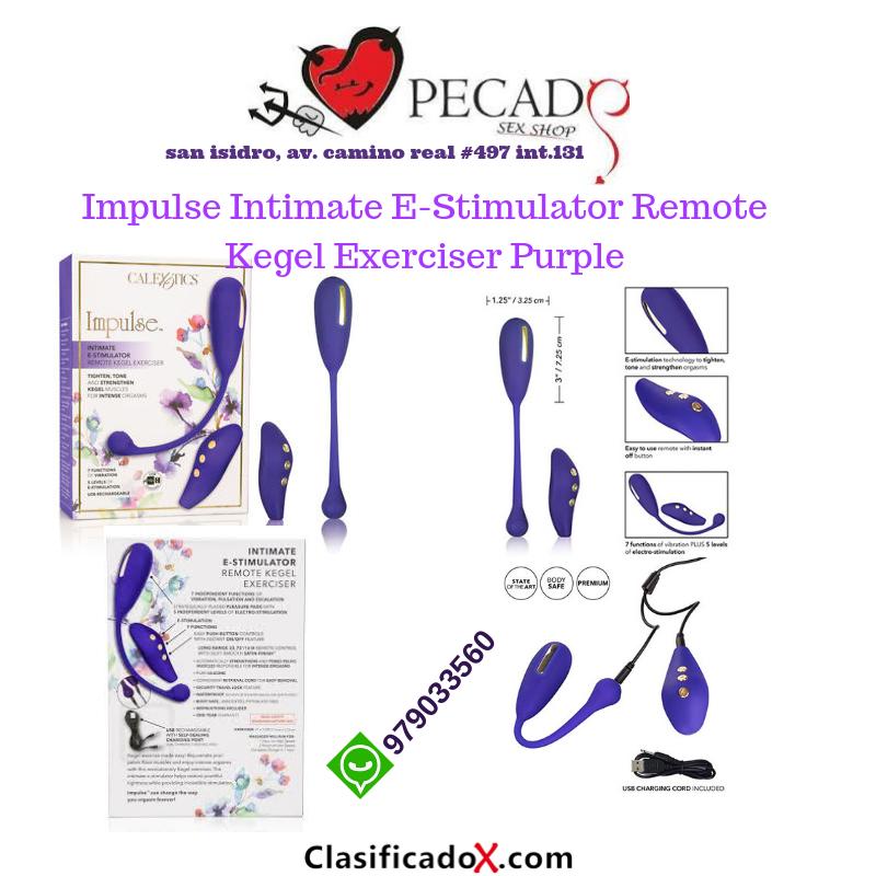 Impulse Intimate E-Estimulador Remoto Kegel Exerciser sexshop pecados cel:979033560