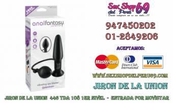 SEXSHOPDELPERU69 VIBRADOR ANAL INFLABLE TELE:01 -5963316