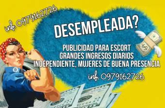 PUBLICIDAD PARA DAMAS ESCORTS 0979162726